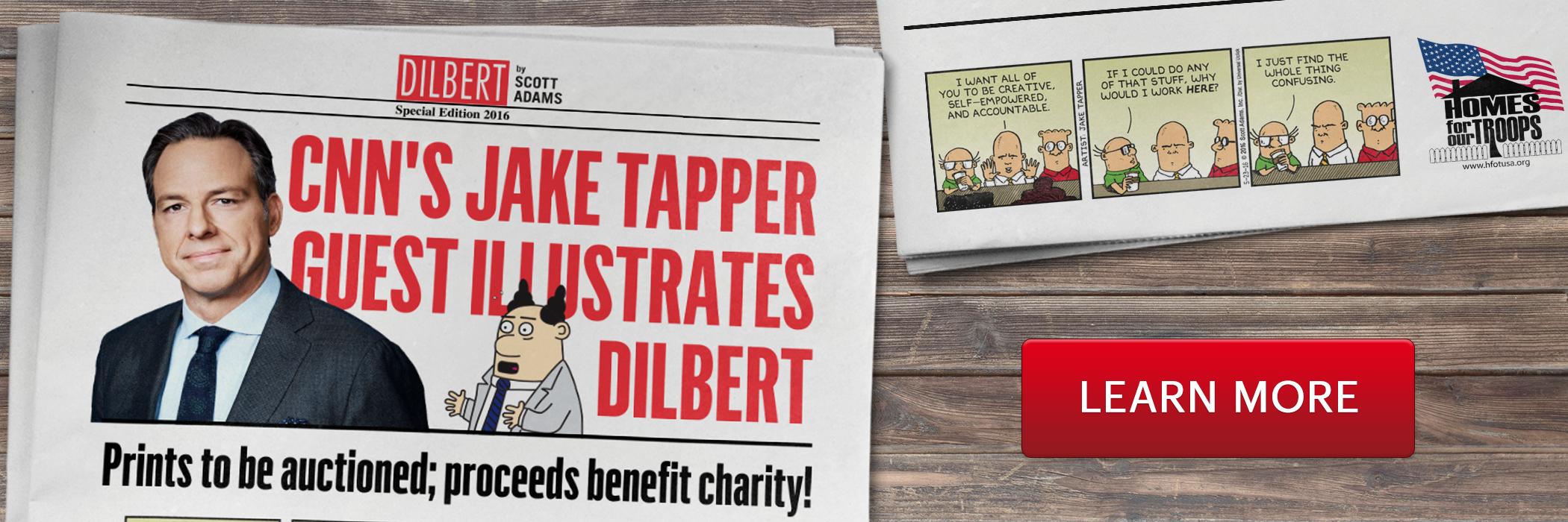 CNN's Jake Tapper Guest Illustrates Dilbert