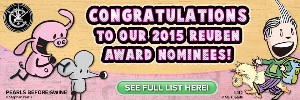 Congratulations to our GoComics Reuben Award Nominees!