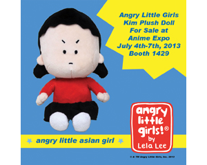 Angry Little Girls Plush Kim from Lela Lee for sale at Anime Expo July 4th - 7th