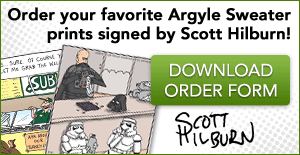 The Argyle Sweater autographed prints