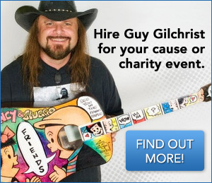 Hire Guy Gilchrist for your cuase or charity event