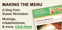 Susan Nicholson's Blog: Making the Menu