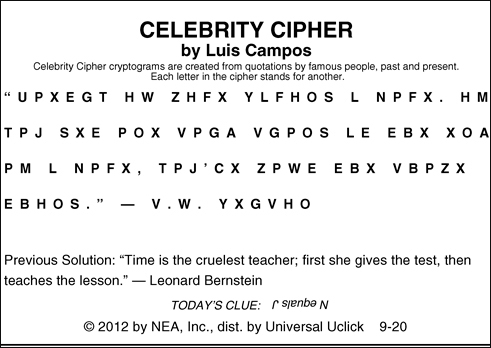 What Is Celebrity Cipher? | Reference.com