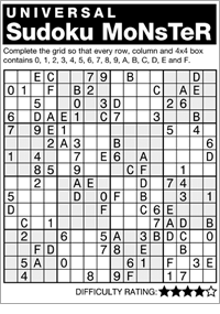 graphic about Monster Sudoku Printable referred to as Andrews McMeel Syndication - House