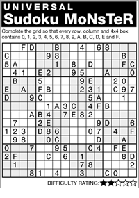 It's just an image of Canny Monster Sudoku Printable