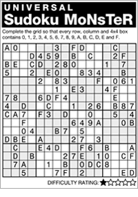 photograph relating to Monster Sudoku Printable titled Andrews McMeel Syndication - Residence