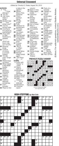 graphic about Usa Today Crosswords Printable known as Common Crossword