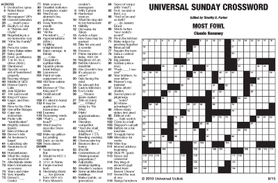 See Sample PDFs Of Universal Crossword